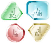 Chemical test tubes — Stock Vector