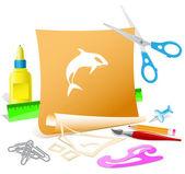 Baleia assassina — Vetorial Stock
