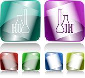 Kimyasal test tüpleri — Stok Vektör