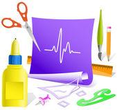 Cardiograma — Vetor de Stock