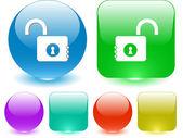 Opened lock — Stock Vector