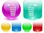 Recycling bin — Stock Vector