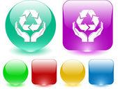 Recycle symbol — Stock Vector