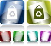 Tas met recycle symbool — Stockvector