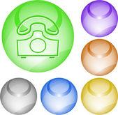глобус и телефон — Cтоковый вектор