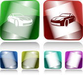 Car. Internet buttons — Stock Vector