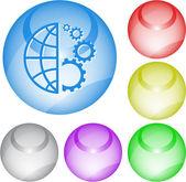 Globe et engins — Vecteur