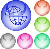 Skift globe — Stockvektor