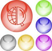 Globe et loupe — Vecteur