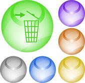 Bac de recyclage — Vecteur
