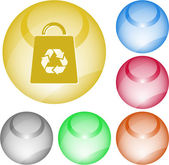 сумка с символом recycle — Cтоковый вектор