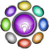 Bee. Vector internet buttons — 图库矢量图片