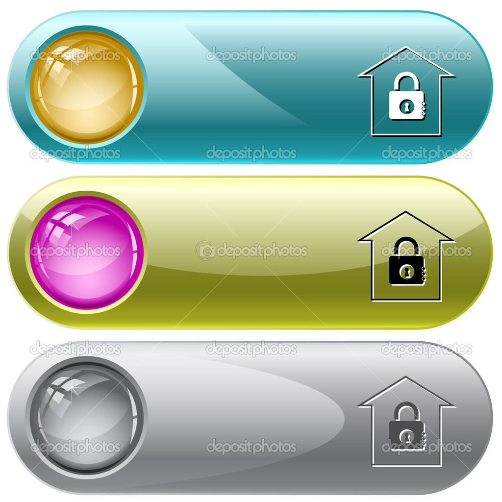 Bank. Vector internet buttons.  Stock Vector #6831644