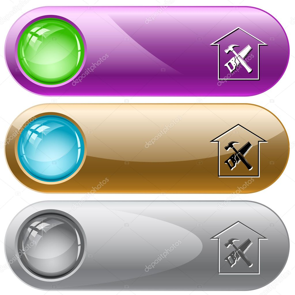 Workshop. Vector internet buttons. — Stock Vector #6831652