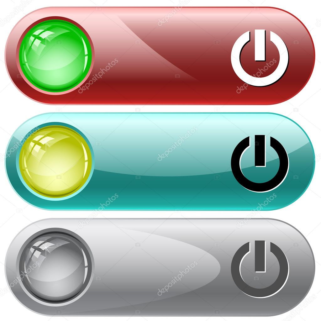 Switch element. Vector internet buttons. — Stock Vector #6831658