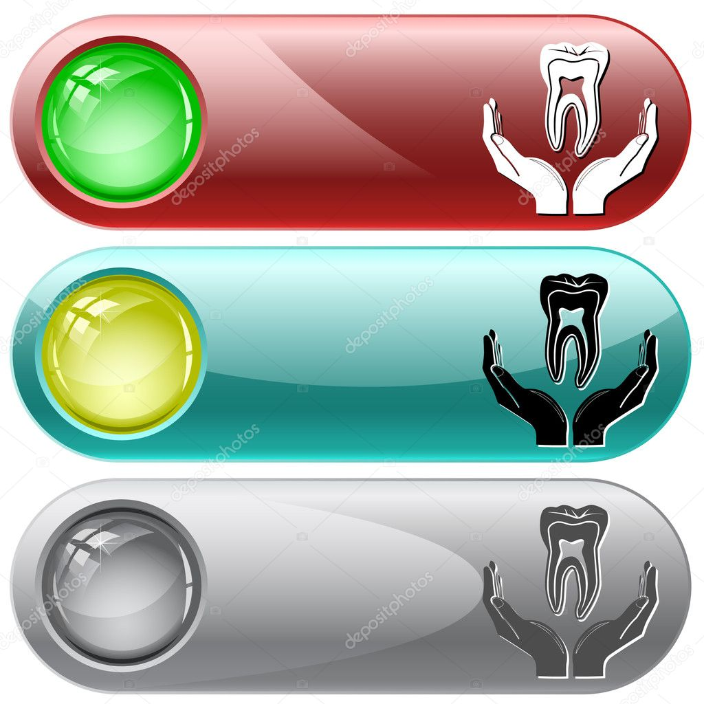 Health in hands. Vector internet buttons. — Stock Vector #6831707