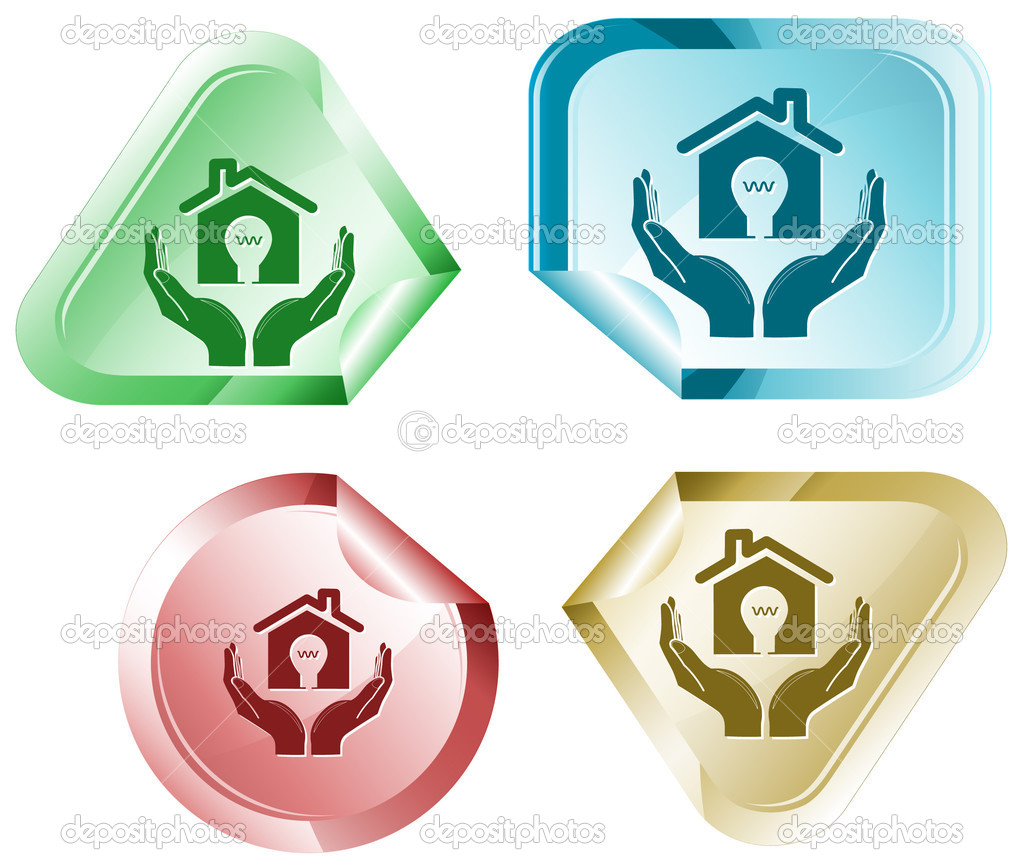 Economy in hands. Vector sticker.  Stock Vector #6831949