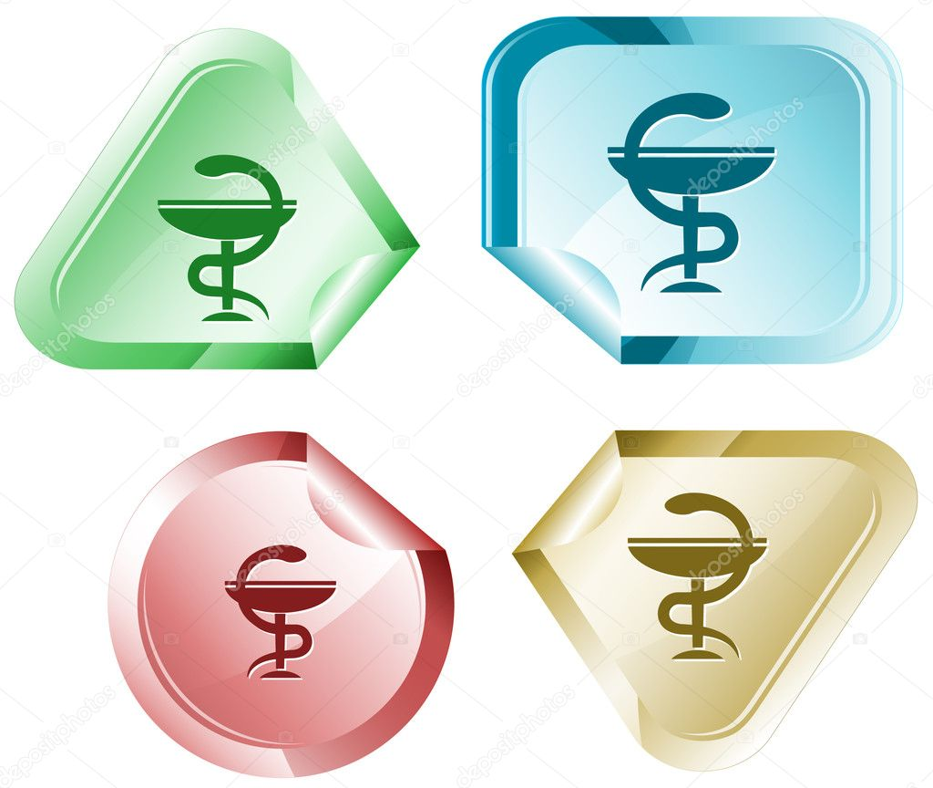 Pharma symbol. Vector sticker. — Stock Vector #6832077