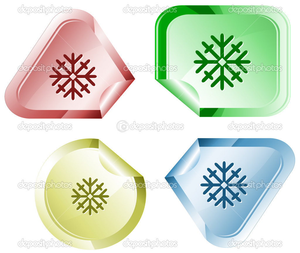 Snowflake. Vector sticker. — Stock Vector #6832083
