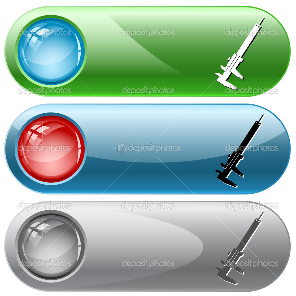 Caliper. Vector internet buttons.  Imagen vectorial #6833282
