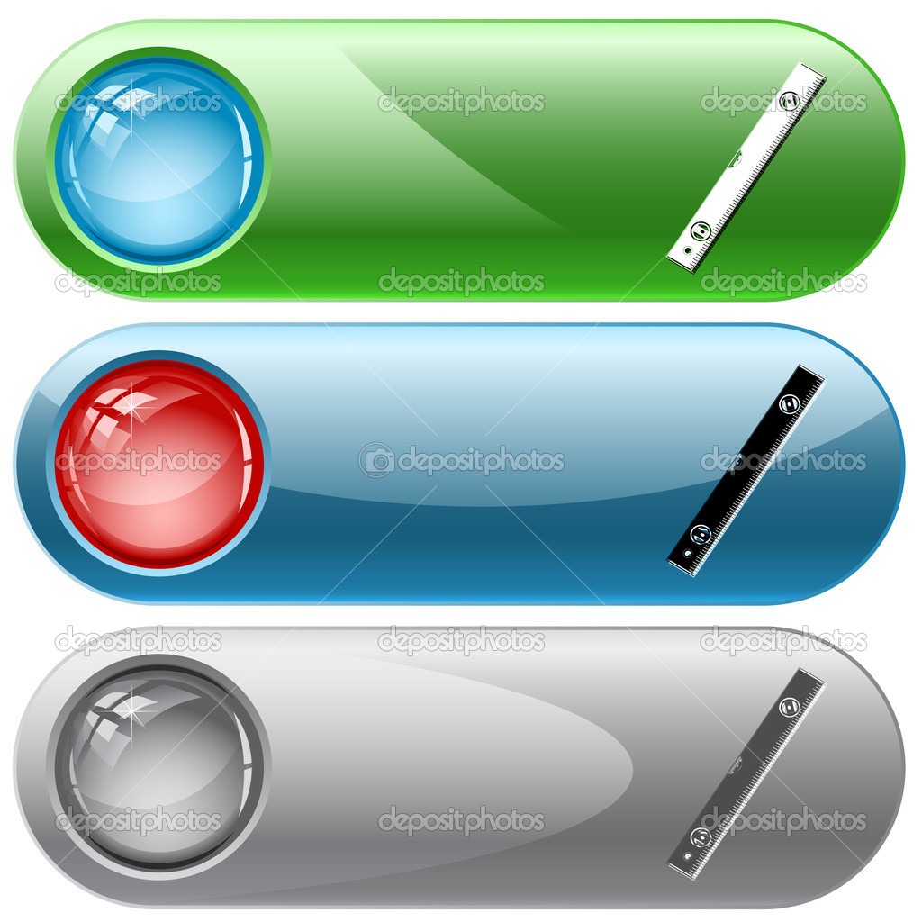 Spirit level. Vector internet buttons. — Stock Vector #6833346