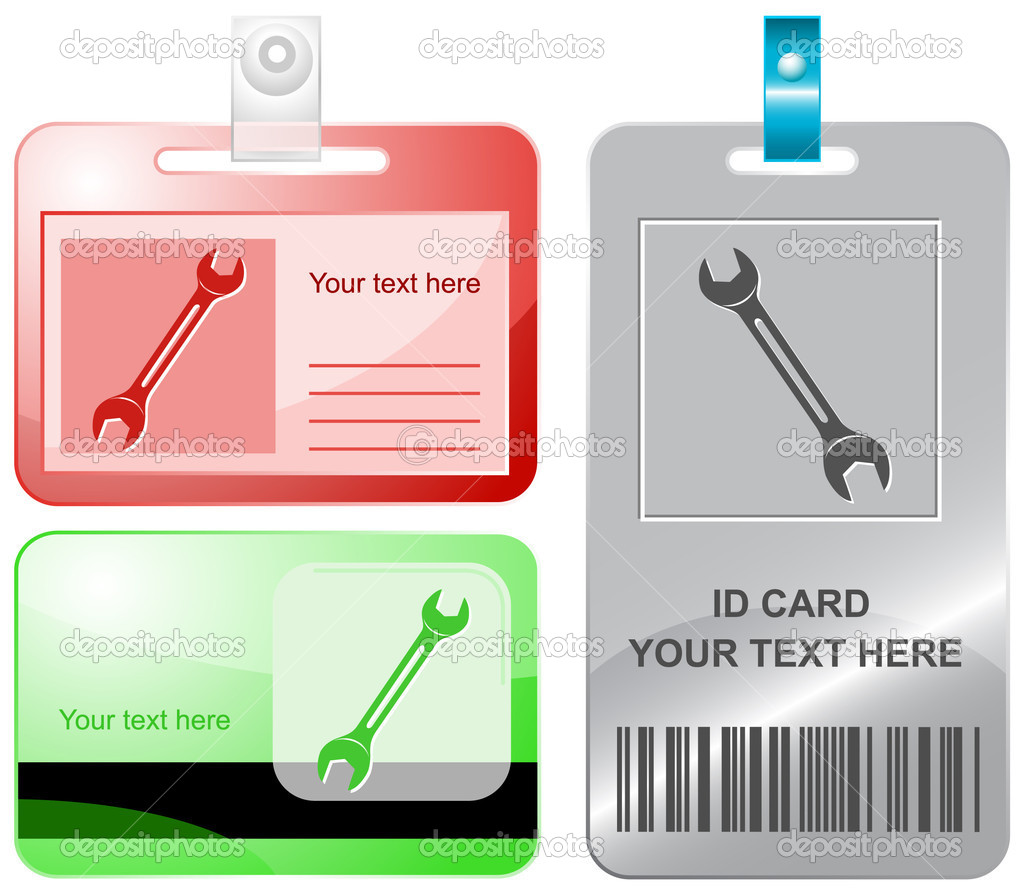 Spanner. Vector id cards. — Stock Vector #6833392