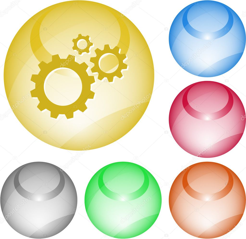 Gears. Vector interface element. — Stock Vector #6833448