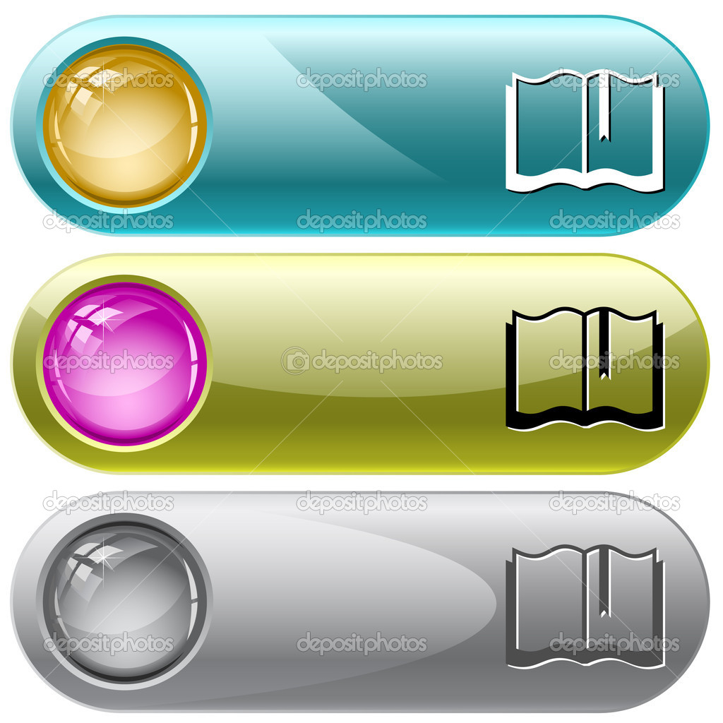 Book. Vector internet buttons. — Stock Vector #6833593
