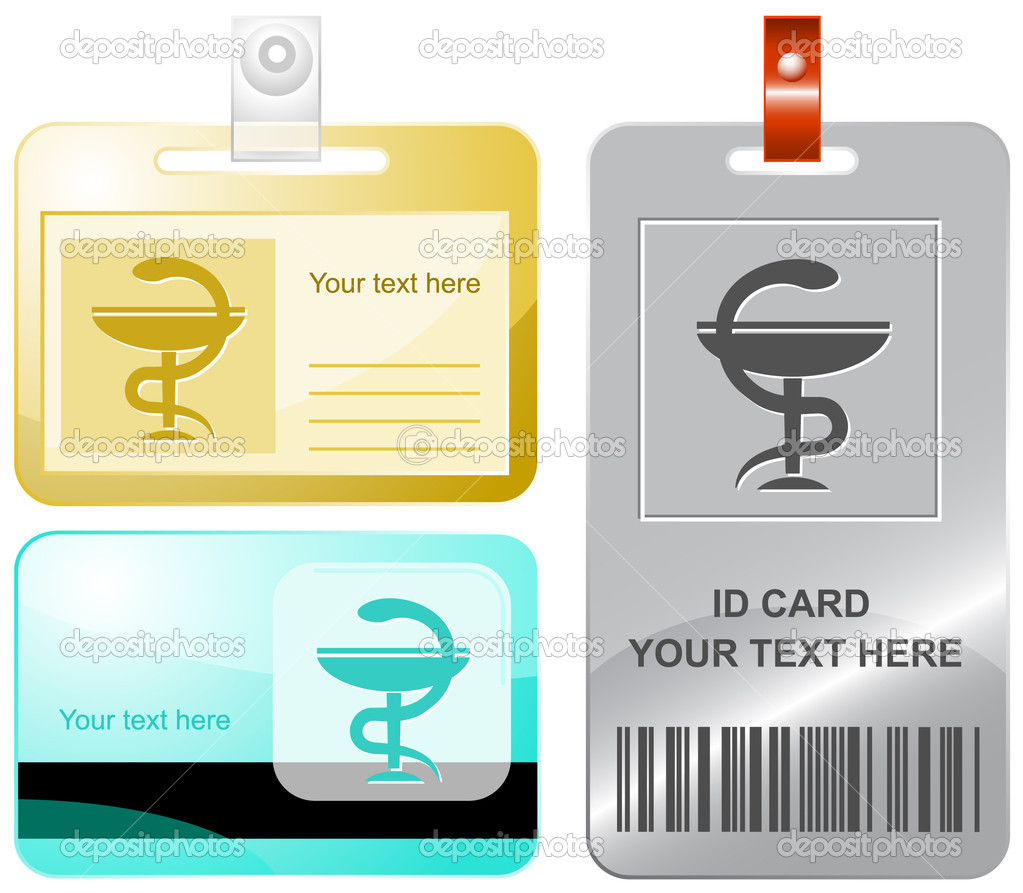 Pharma symbol. Vector id cards. — Stock Vector #6833644
