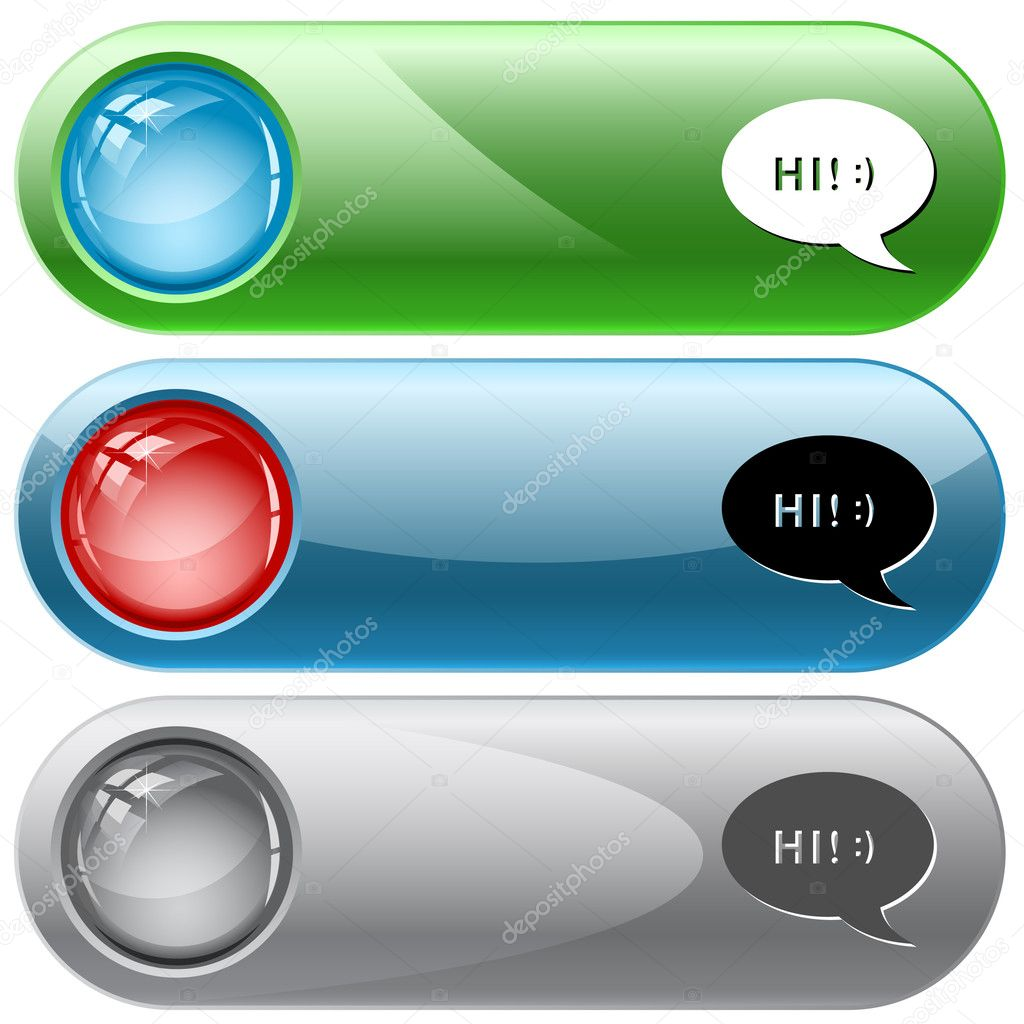 Chat symbol. Vector internet buttons. — Stock Vector #6834552
