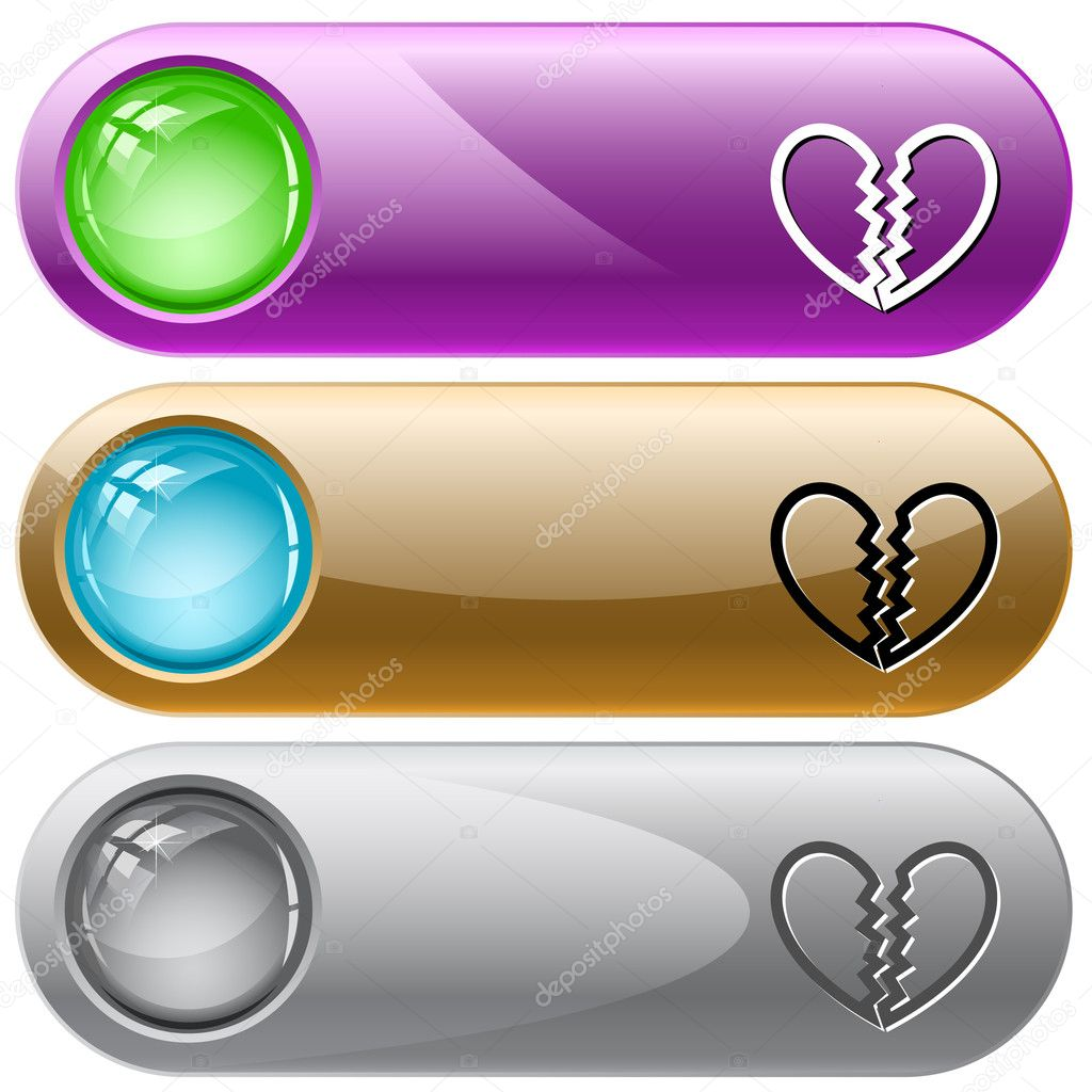 Unrequited love. Vector internet buttons. — Stock Vector #6834589