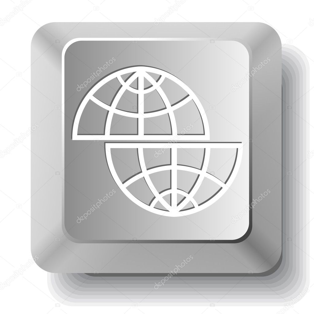 Shift globe. Vector computer key. — Stock Vector #6834680