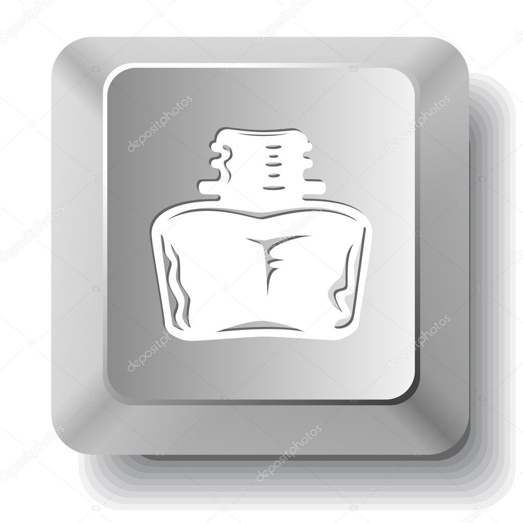 Inkstand. Vector computer key. — Stock Vector #6834815