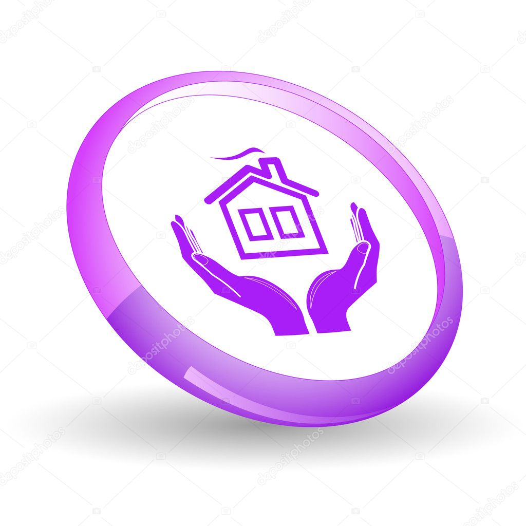 Comfort in hands. Vector icon. — Stock Vector #6835926