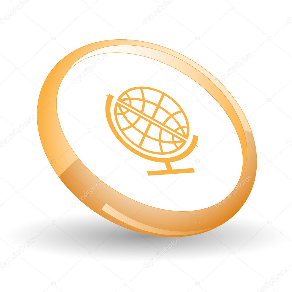 Globe. Vector icon. — Stock Vector #6836103