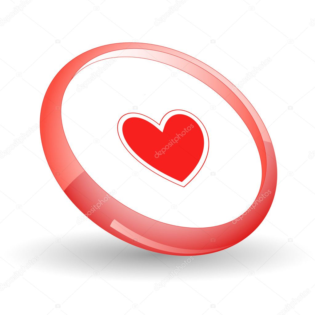 Heart. Vector icon. — Stock Vector #6836498