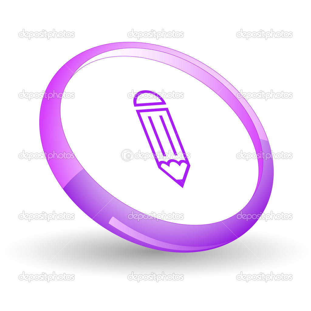 Pencil. Vector icon. — Stock Vector #6836512