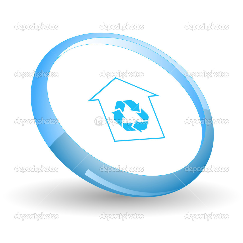 Protection of nature. Vector icon. — Stock Vector #6836515