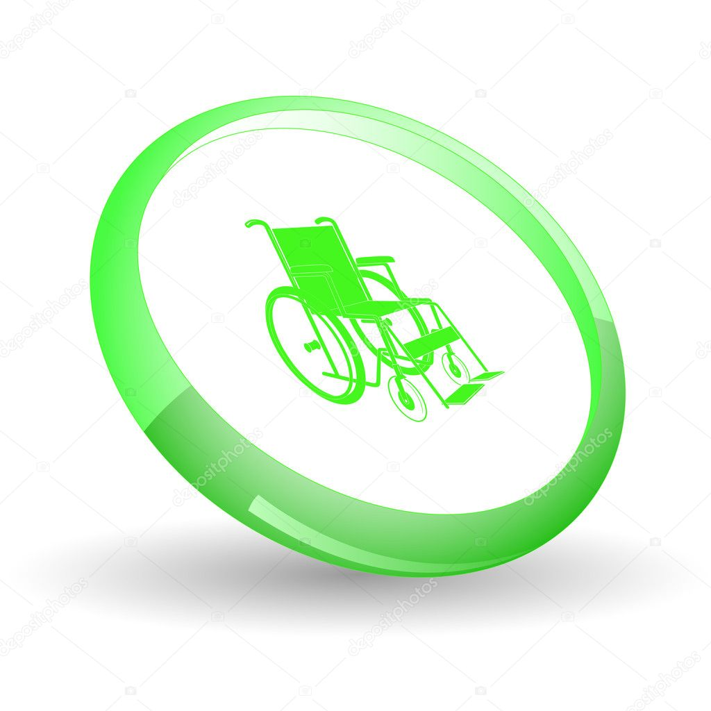 Invalid chair. Vector icon. — Stock Vector #6836518
