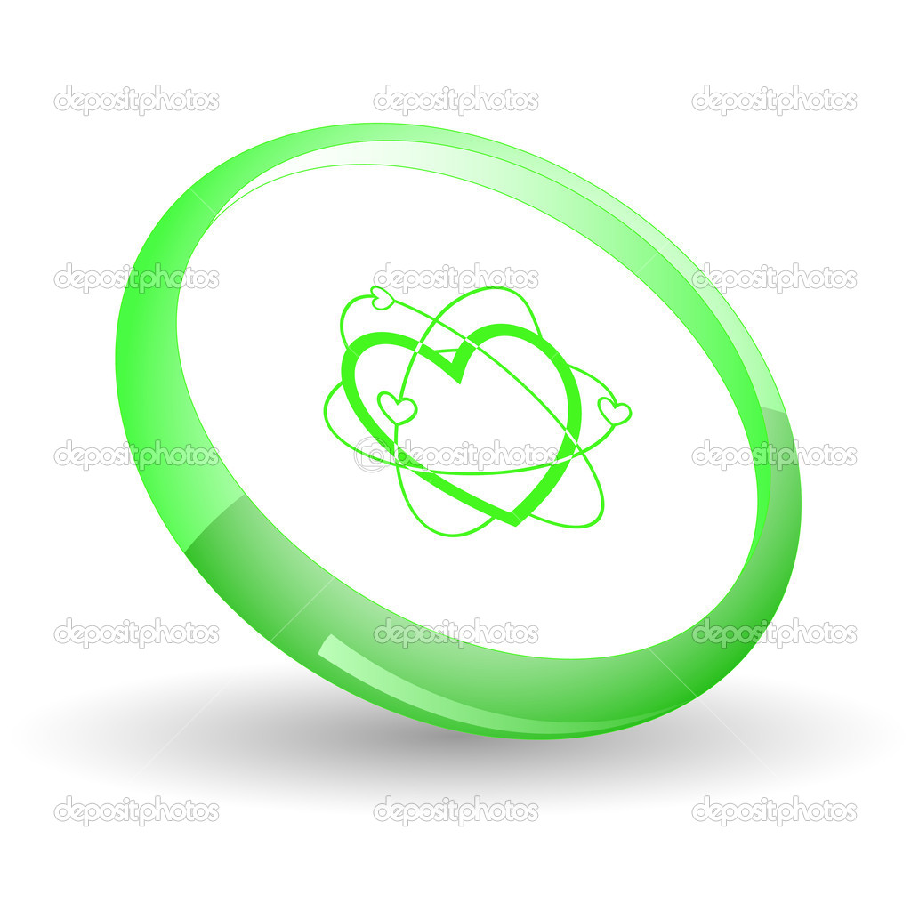 Atomic heart. Vector icon.  Stock Vector #6836525