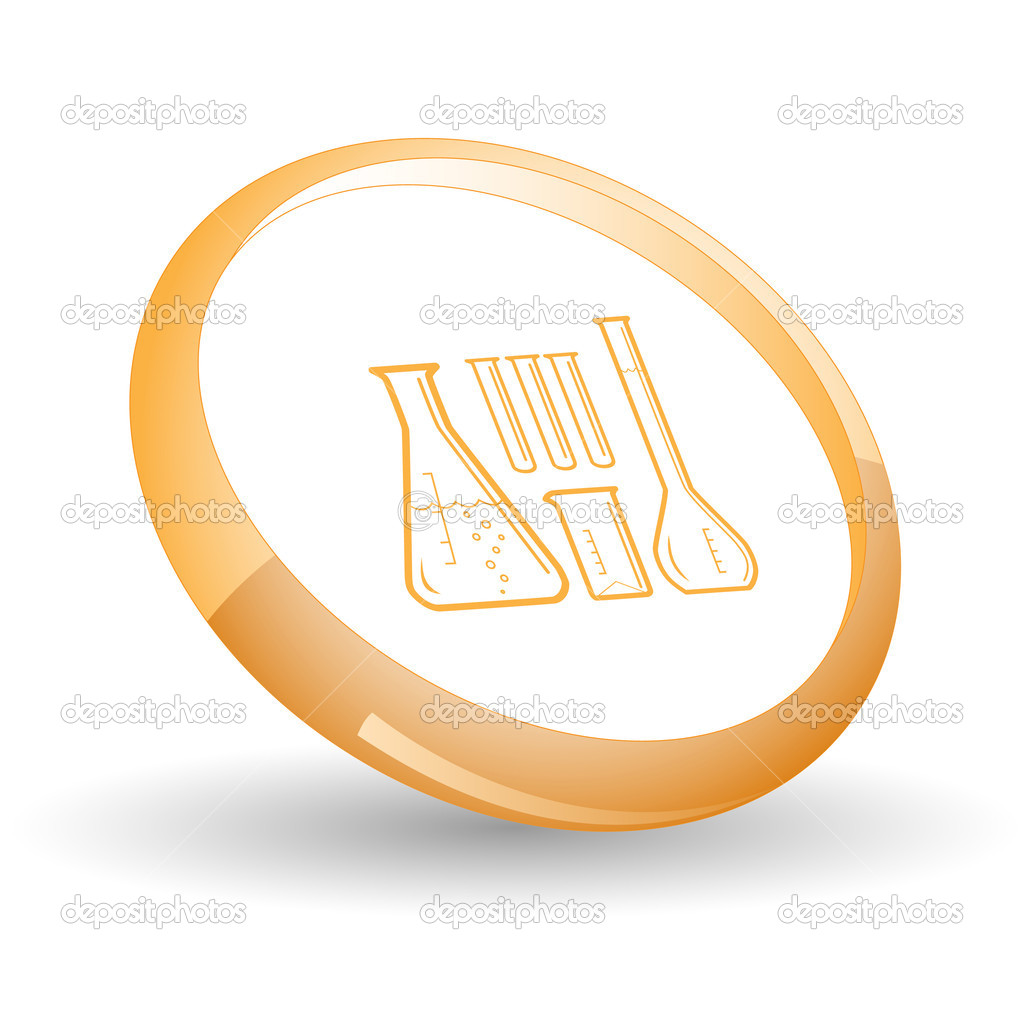 Chemical test tubes. Vector icon. — Stock Vector #6836549