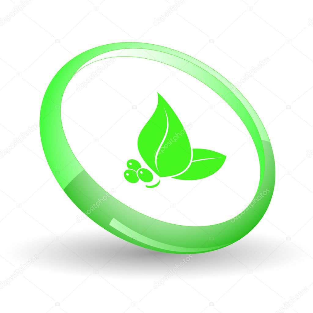 Leaf. Vector icon. — Stock Vector #6836562