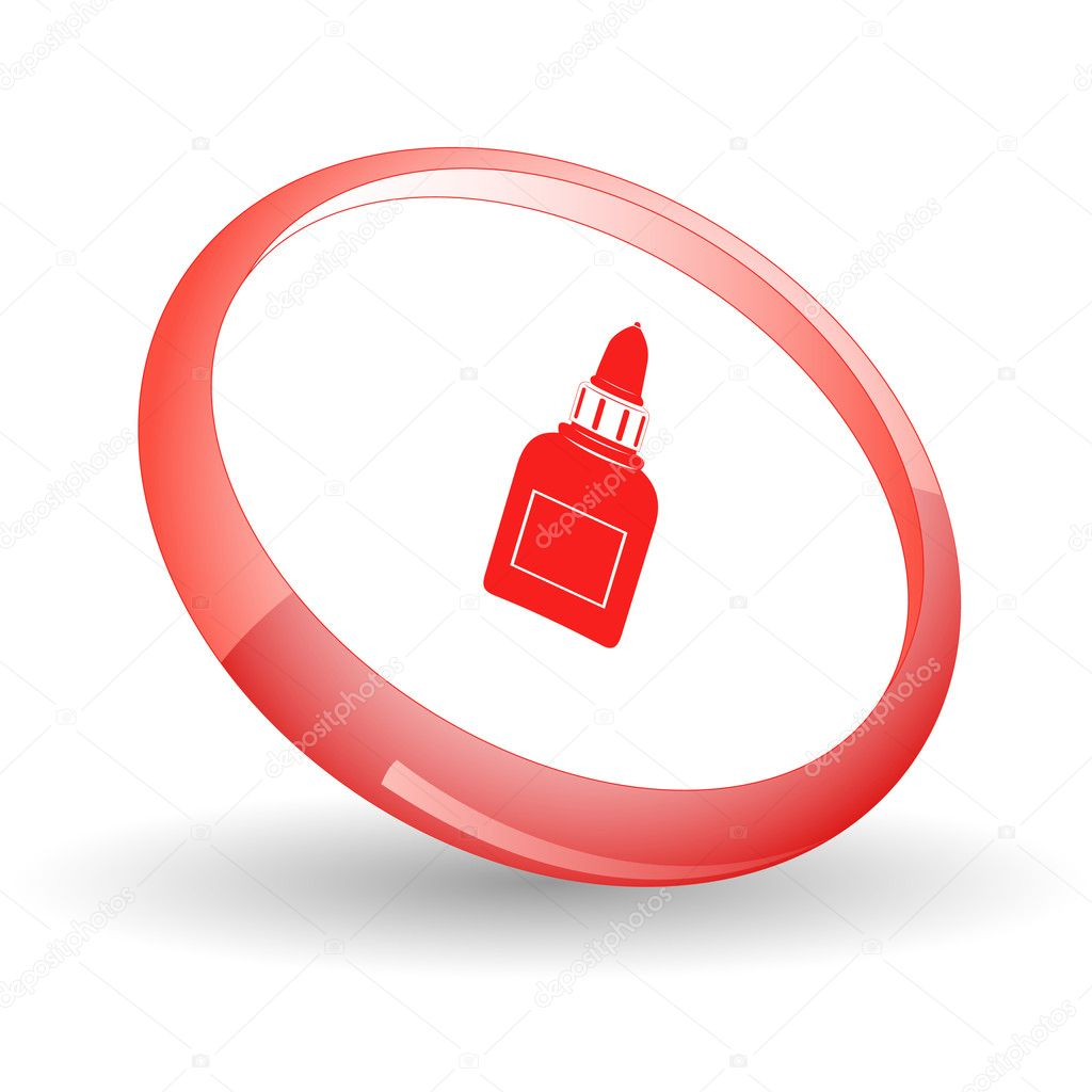 Glue bottle. Vector icon. — Stock Vector #6836630
