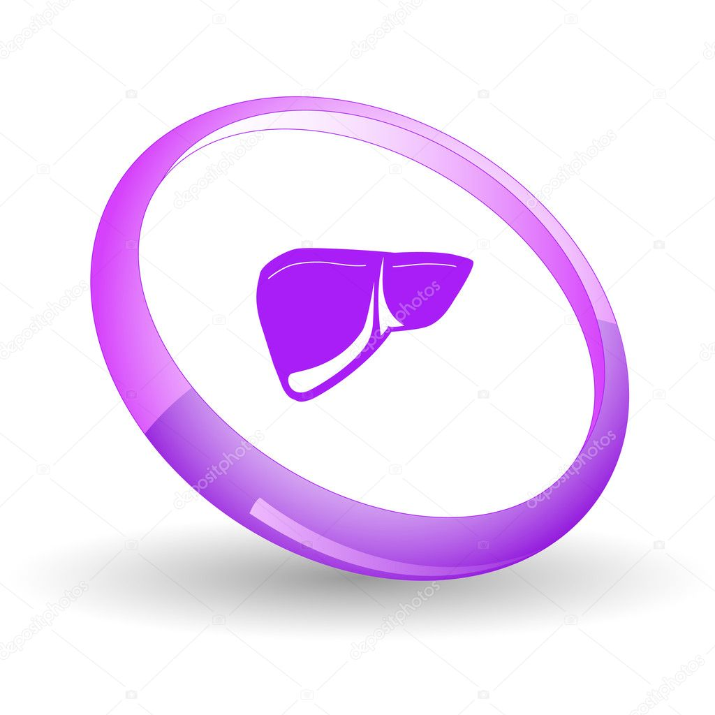 Liver. Vector icon.  Stock Vector #6836640