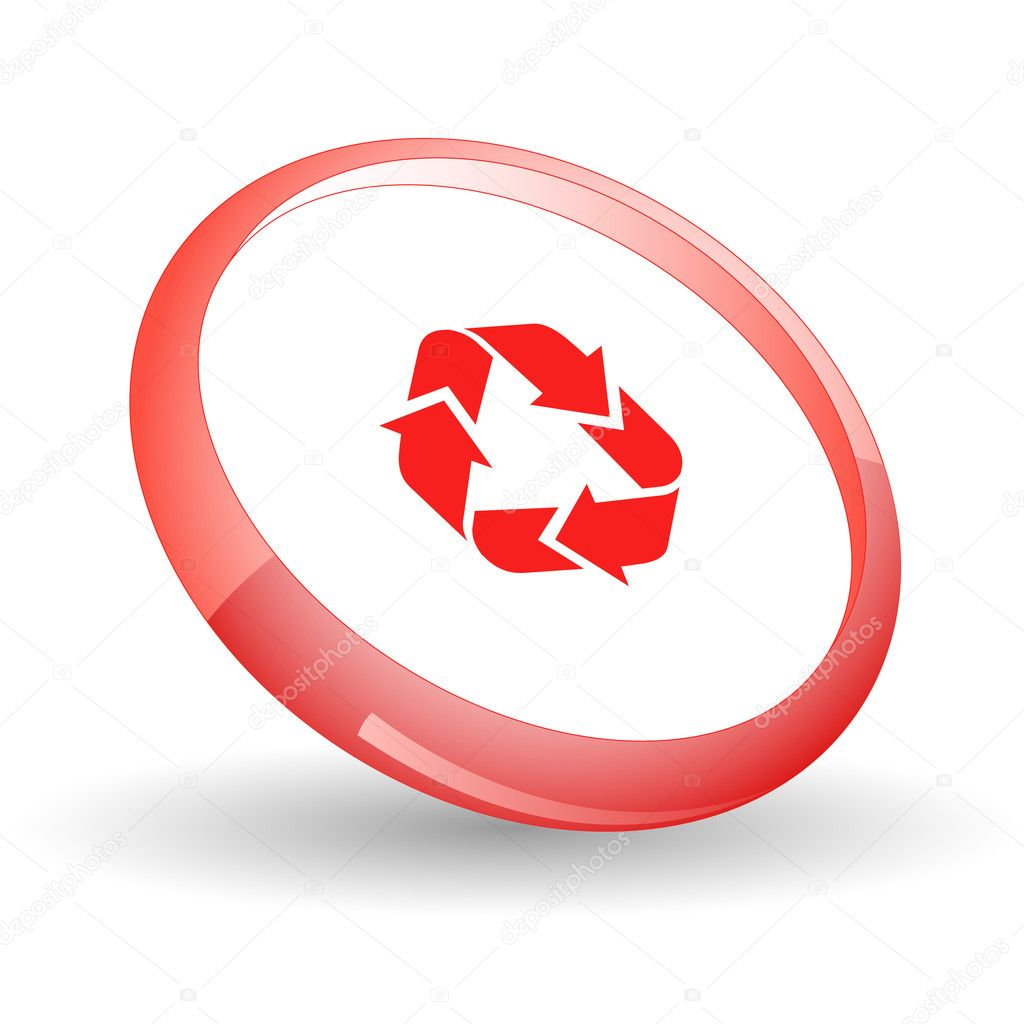 Recycle symbol. Vector icon. — Stock Vector #6836660
