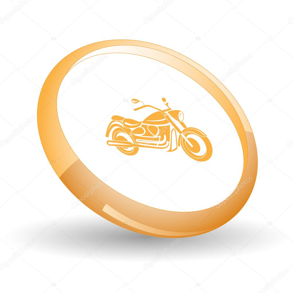 Motorcycle. Vector icon.  Stock Vector #6836666