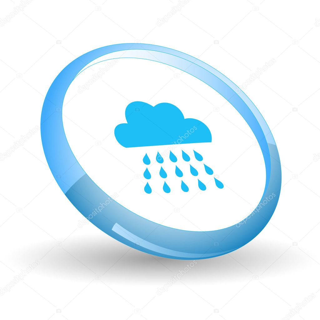 Rain. Vector icon.  Stock Vector #6836674