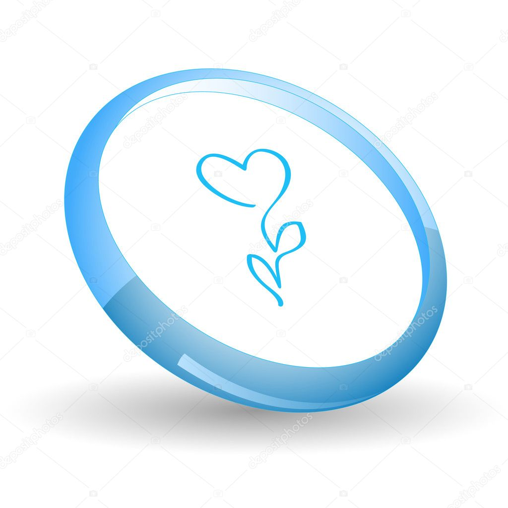 Flower-heart. Vector icon. — Stock Vector #6837146