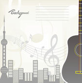 Music City Vector Background — Stock Vector