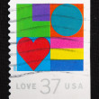 Close-up retro stamps — Stock Photo